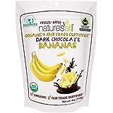 Natierra Nature's All Foods Organic Freeze-Dried Snacks, Dark Chocolate Bananas, 4 Ounce