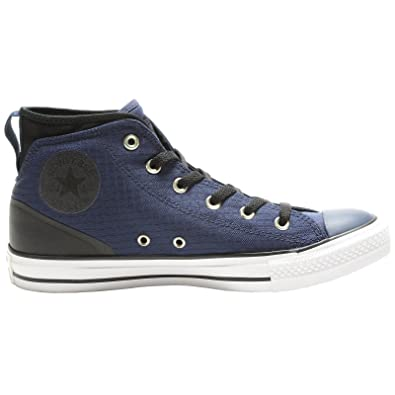 Converse Mens Chuck Taylor All Star Syde Street Mid Midnight Navy Black  Canvas Trainers 9 US
