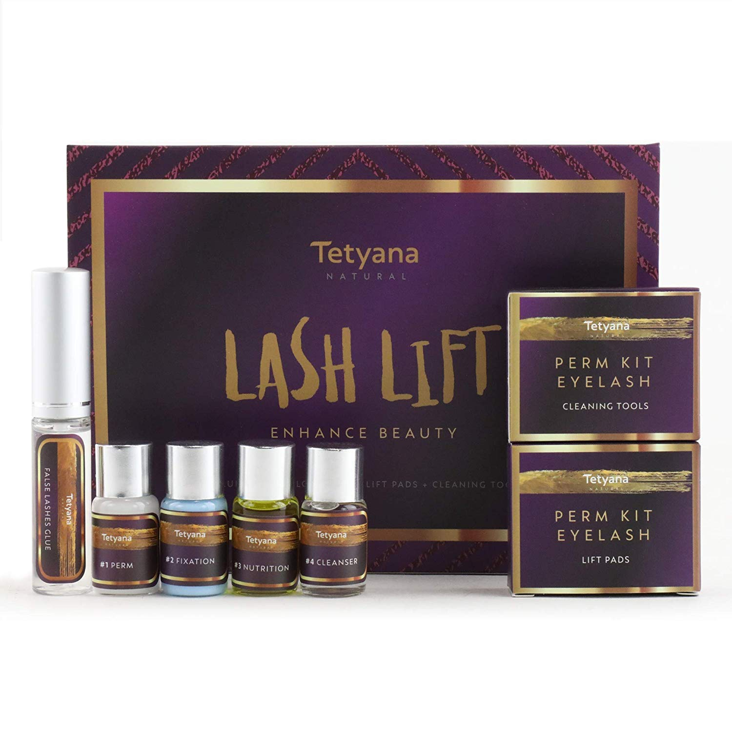 Tetyana naturals Eyelash Perm Kit, Professional Quality Lash Lift, Semi-Permanent Curling Perming Wave, Lotion Liquid Set