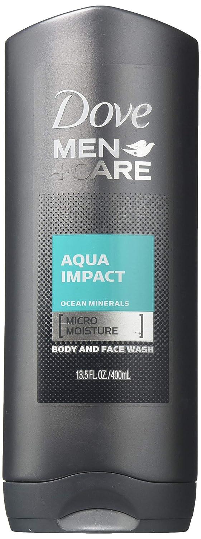 Dove Men Plus Care Aqua Impact Body and Face Wash, 13.5 Fluid Ounce - 6 per case.