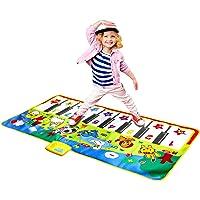 "M SANMERSEN Music Mat for Kids, Kids Piano Mat Touch Play Blanket Keyboard Playmat 53"" x 23"" Musical Mats with Animal…"