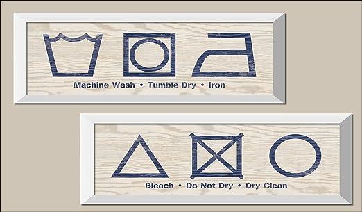 Popular lavandería icono Signs; Para Lavadora, secadora, hierro ...