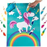 MISS FANTASY Pin The Horn on The Unicorn Birthday Party Favor Games Kids Party Supplies Unicorn Gifts for Girls Game…