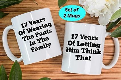 Amazon Boyce22par 17th Anniversary Gifts 17th Anniversary Mugs