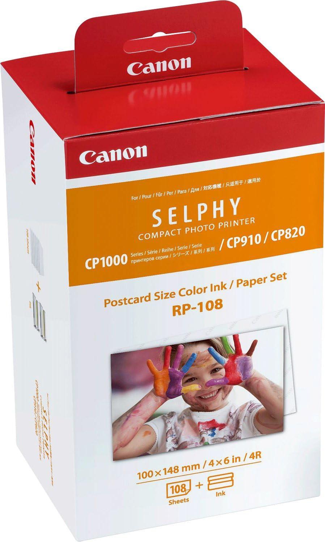 Tinta Original CaNON Multipack Rp-108 Tinta Color + Papel Fotografico Imprime Hasta 108 Impresiones