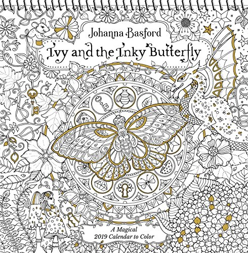Ivy and the Inky Butterfly 2019 Coloring Wall Calendar: A Magical 2019 Calendar to Color