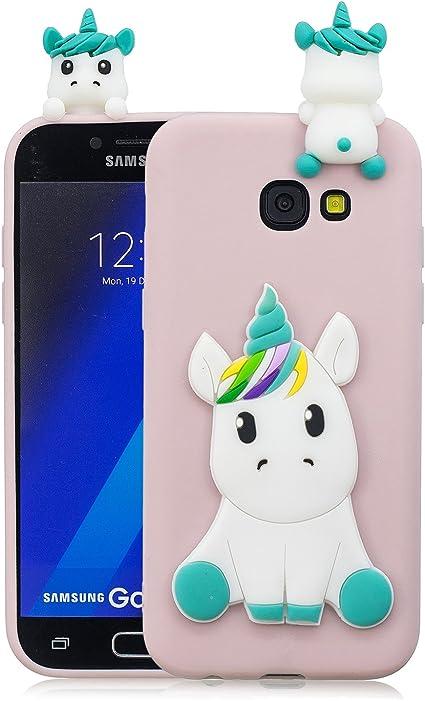 HopMore Compatible pour Coque Samsung Galaxy A5 2017 Silicone Souple 3D Design Motif Drôle Mignonne Etui Étui Antichoc Ultra Mince Fine Gel Slim Case ...