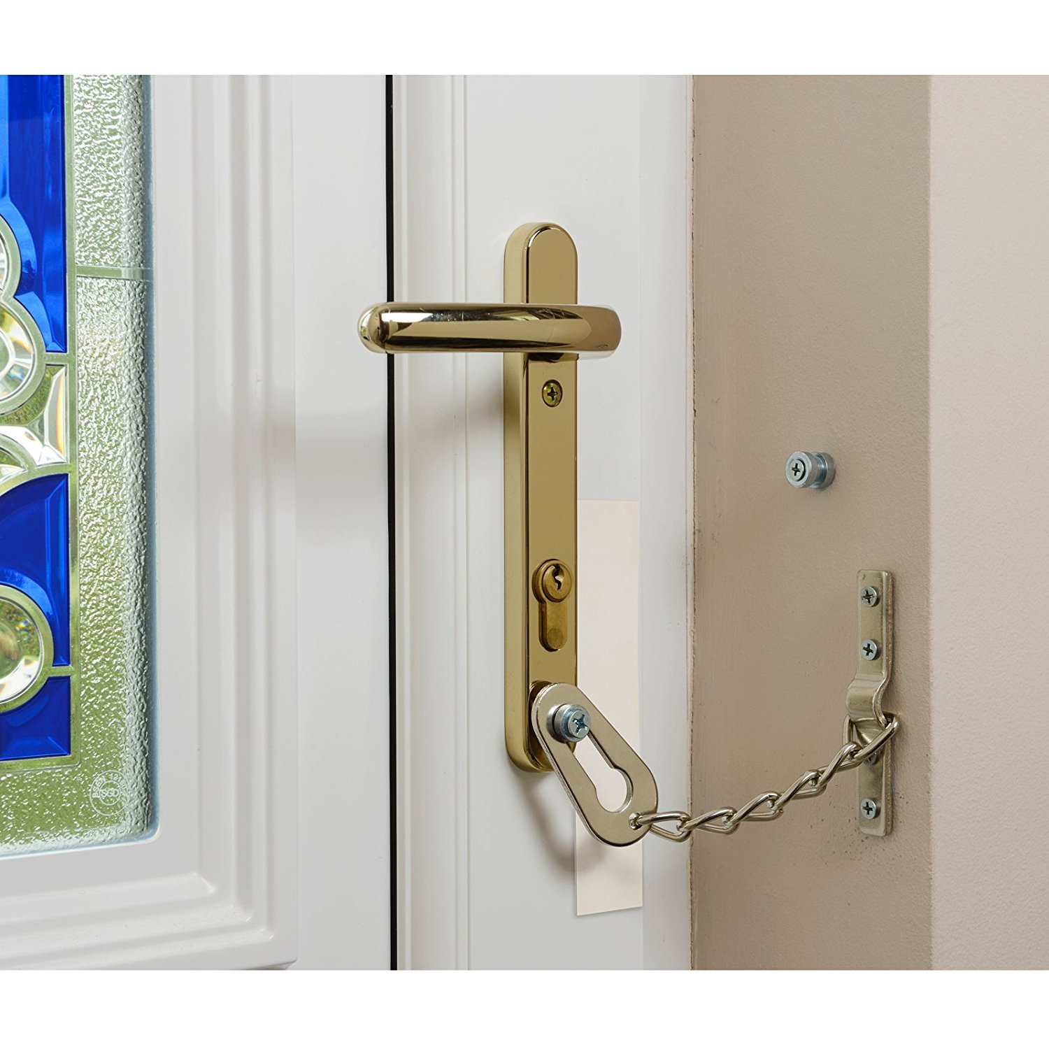 UNWANTED CALLER SECURITY TOP QUALITY CHROME DOOR SAFETY GAURD