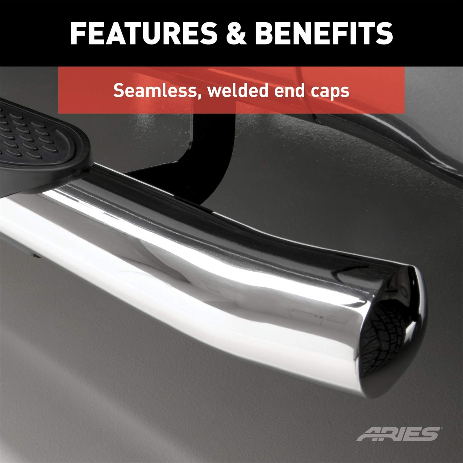 ARIES S223041-2 4-Inch Oval Polished Stainless Steel Nerf Bars 4 Inches Select Ford Explorer