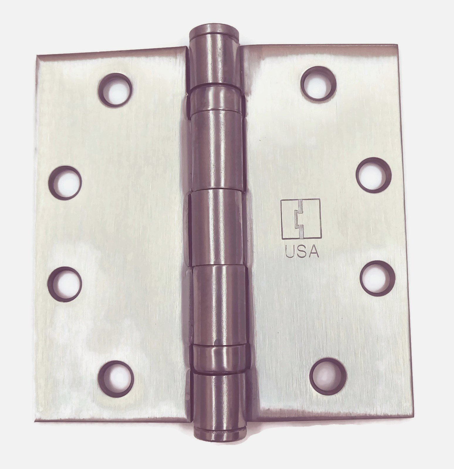 Hager Full Mortise Stainless Steel Hinge BB1191 4.5 x 4.5 US32D/630 (Satin Stainless Steel) - Box of 3 Ball Bearing hinges by HAGER Companies