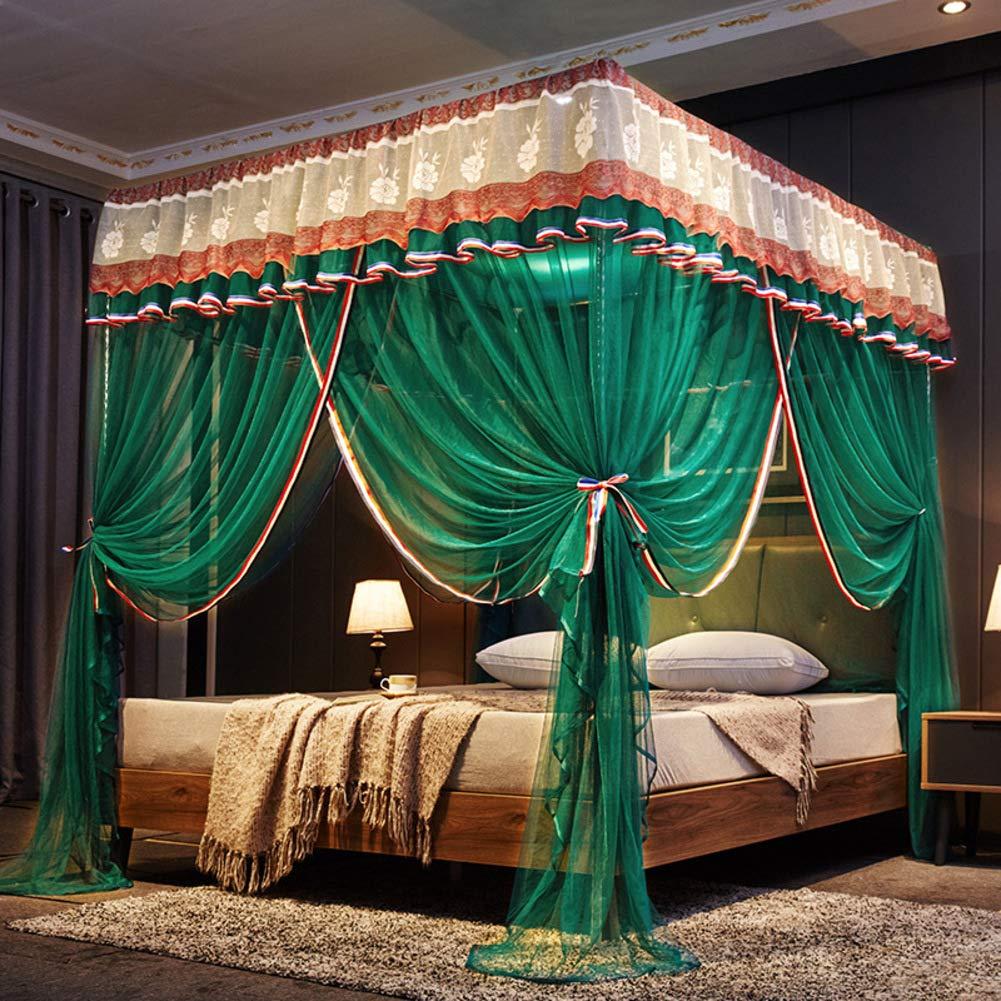 プリンセス スタイル 防蚊ネット, 装飾 4コーナー ベッド カーテン ハンギング蚊帳 ベッド の 大人 の 男 モスキートテント-d W:200cmxh:200cmxd:220cm B07RR9W8SM D W:200cmXH:200cmXD:220cm