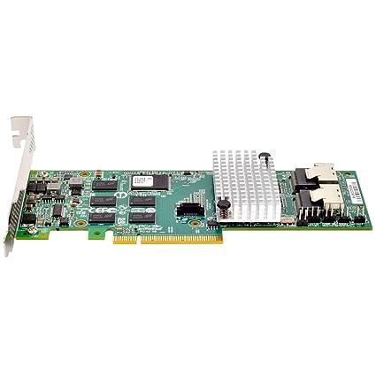 Silverstone SST-ECS01 - Tarjeta PCI-E Express Gen 2.0, x8 SAS/SATA (6Gb/s) Controlador de Puertos LSISAS2108, acepta Perfil bajo, Raid ...