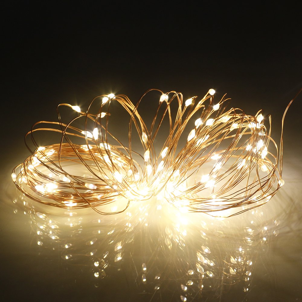 onEveryBaby 10M 100 LEDs Waterproof USB Copper Wire Christmas Decoration String Light Garden Courtyard String by onEveryBaby