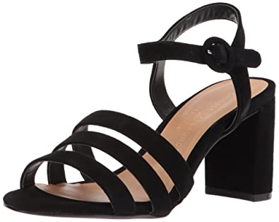 826fe4ca45d8 Chinese Laundry Women s Ryden Heeled Sandal Black Suede 10 ...
