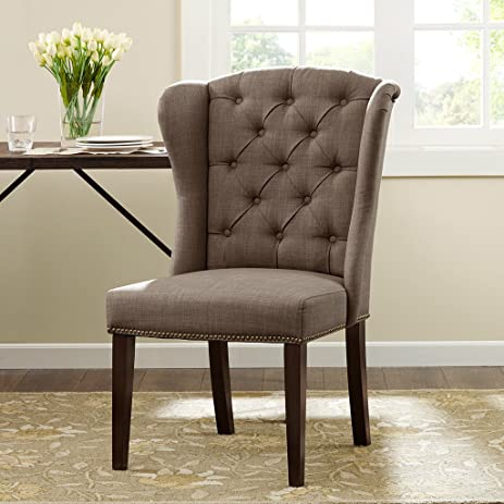 Madison Park Jodi Dining Chair Taupe See Below