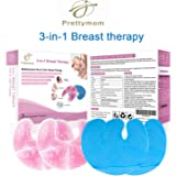 Breast Therapy Gel Bead Ice 2 Packs, Breastcare Thermopads, Reusable Hot/Cold Therapy Breastfeeding Gel Pads, Compress Therapearl Beads, Cooling Soothing Relief of Pain for Nursing Mom
