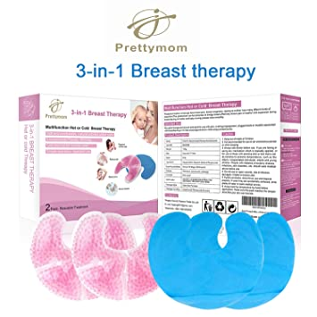 dcf93103f473a Breast Therapy Gel Large Pads, Breast Ice Pack, Gel Nursing Pads in Hot or