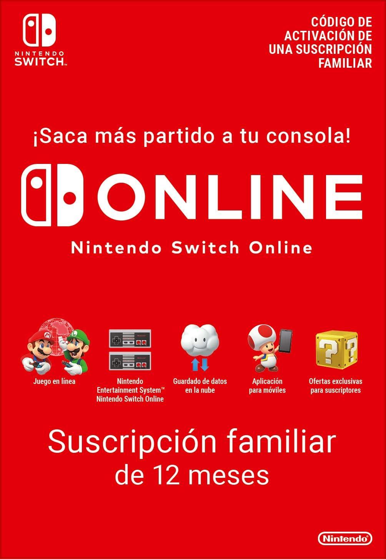 Switch Online Suscripción Familiar de 12 Meses   Nintendo Switch ...