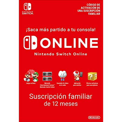 Switch Online Suscripción Familiar de 12 Meses | Nintendo Switch - Código de descarga