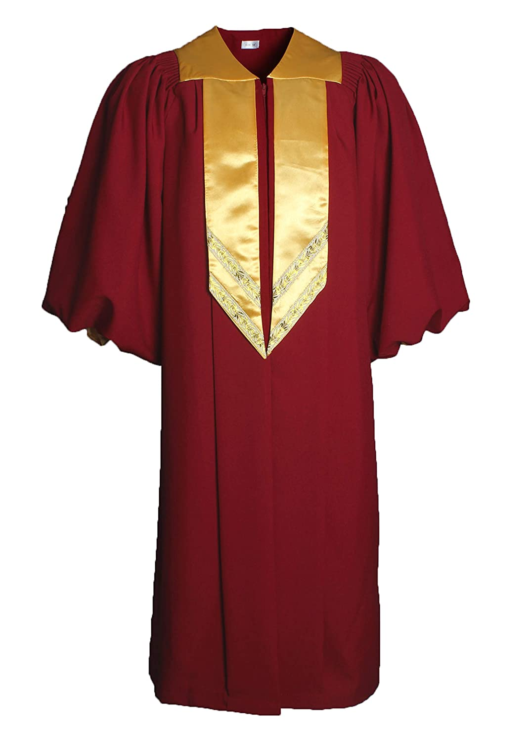 Maroon gold GradPlaza Deluxe Crescendo Choir Robe With Cuff Sleeves