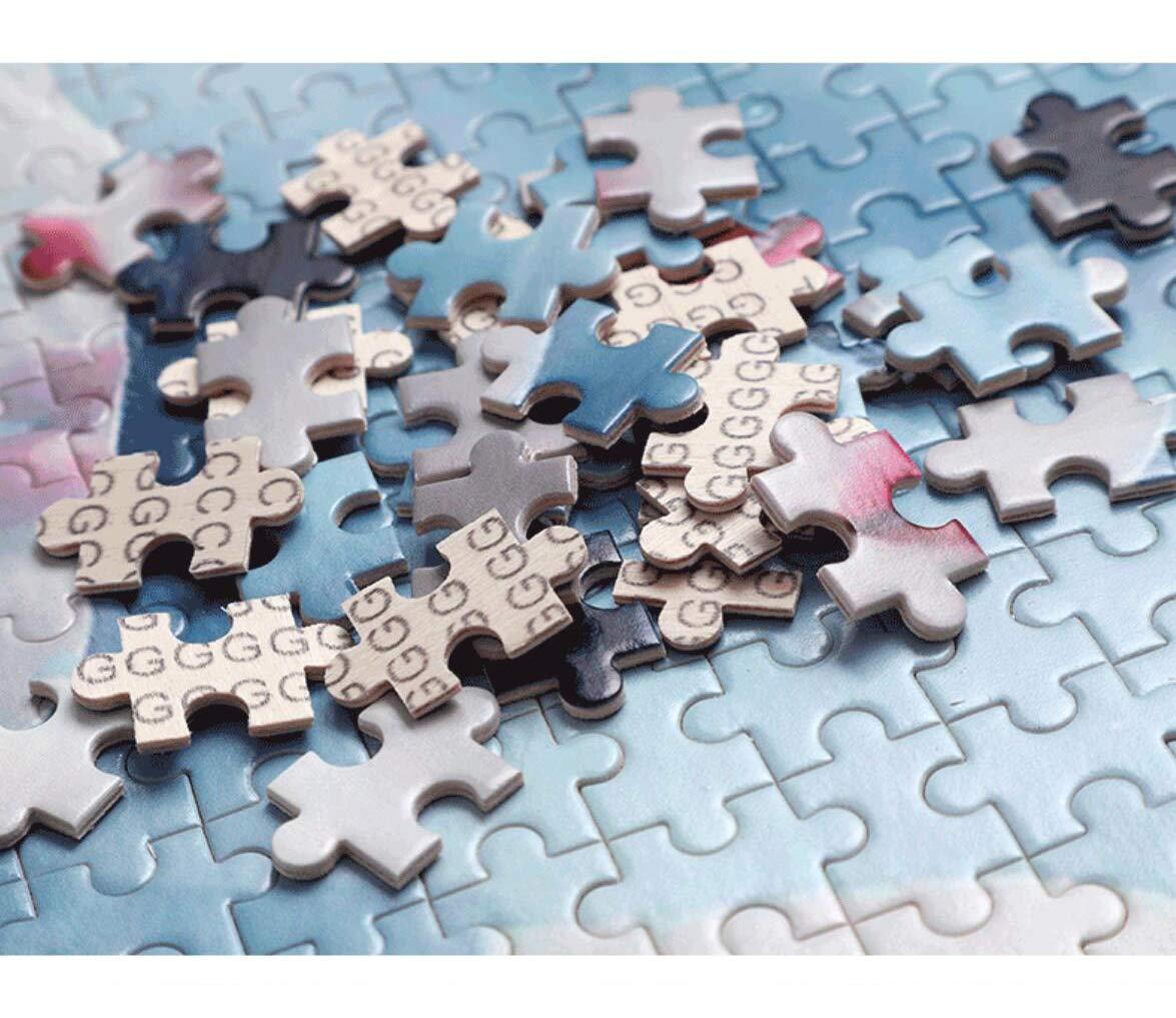 TWYYDP Puzzle Classico in Legno per Adulti 500 Pezzi Scenario di Citt/à Balneare di Notte Adatto A Persone di et/à Superiore Ai 12 Anni