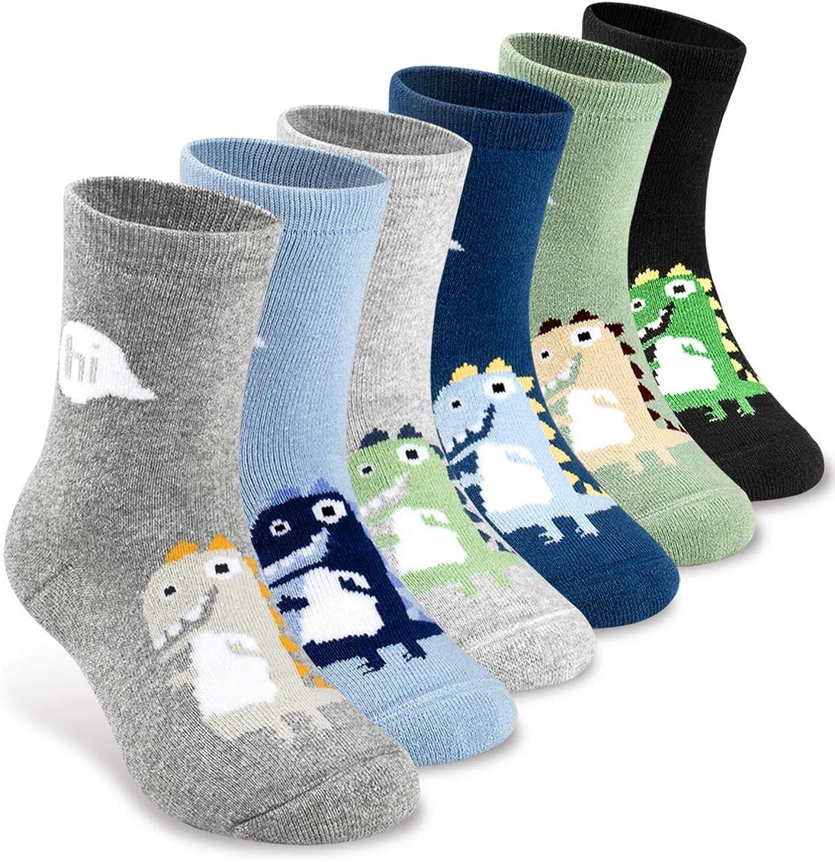 B082NYBNC1 Girls Boys Socks Winter Thick Warm Wool Socks for kids Colorful Cartoon Cute Crew Socks(6 Pairs or 12 Pairs) 71WyiOnTmOL