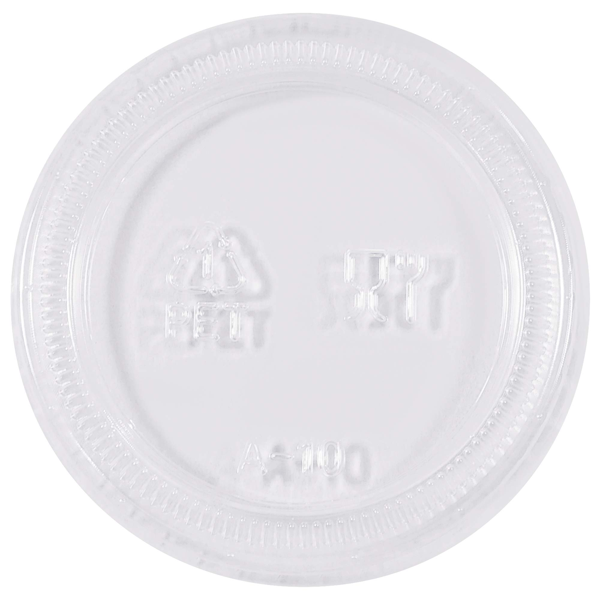 Plastic Portion Cup Lids, 2 oz, Clear, 2500/Case by Choice Shipping Supplies