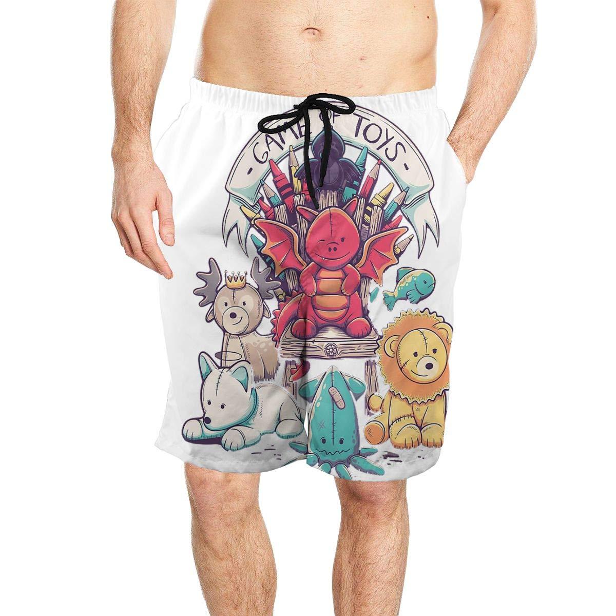 Game of Toys Mens Beach Shorts Board Shorts Summer Swim Trunks