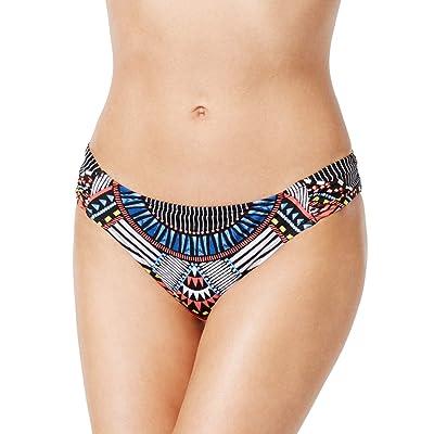 Bar III Women's Ruched Back Cheeky Bikini Bottoms: Clothing