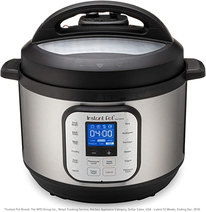 Instant Pot Duo Nova 7-in-1 Electric Pressure Cooker, Slow Cooker, Rice Cooker, Steamer, Saute, Yogurt Maker, and Warmer|10 Quart|Easy-Seal Lid|14 One-Touch Programs