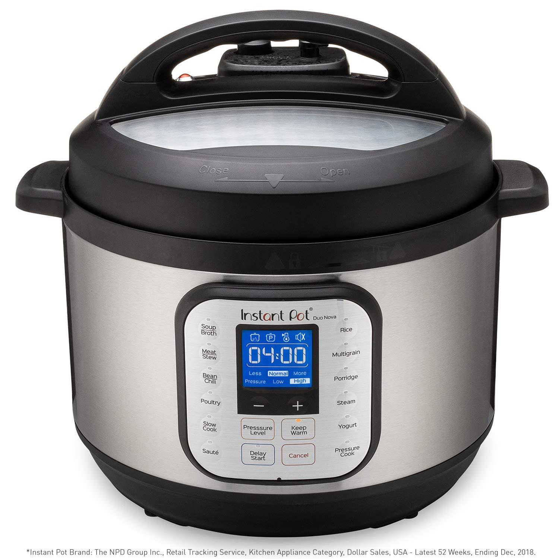 Best Electric Pressure Cooker 2020.Instant Pot Duo Nova 7 In 1 Electric Pressure Cooker Slow Cooker Rice Cooker Steamer Saute Yogurt Maker And Warmer 10 Quart Easy Seal Lid 14