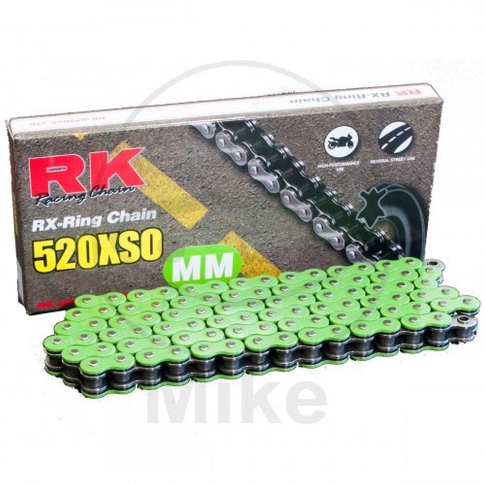 RK X-RING VERDE 520XSO/112 CATENA APERTA CON RIVETTO A BATTUTA