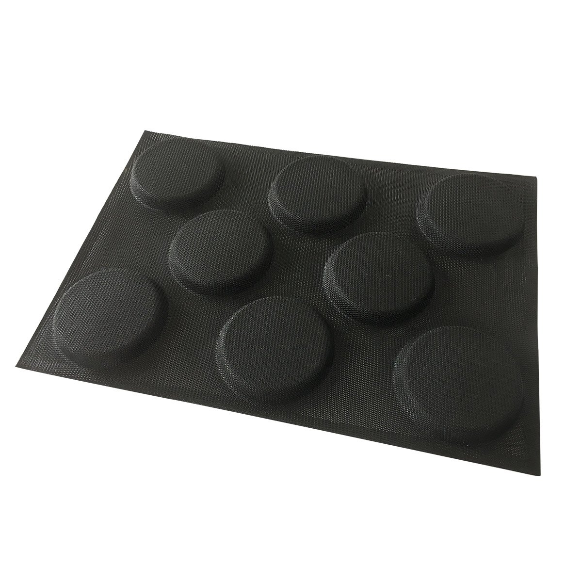Bluedrop Silicone Hamburger Bread Forms Perforated Bakery Molds Non Stick  Baking Sheets Fit Half Pan Size