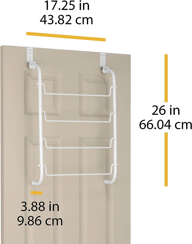 Whitmor White Medium-Sized Door Hanging Towel Rack