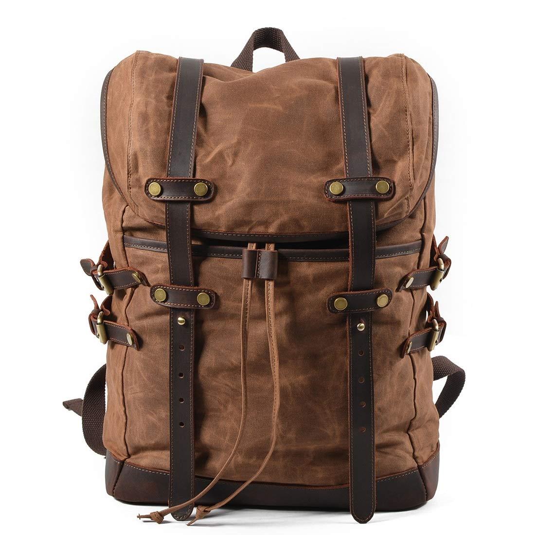 CAFUTY バックパックショルダー防水多機能旅行ウォーキングレジャースポーツコンピュータの学生用バッグは、屋外での使用に適しています (Color : ブラウン) B07N7GQH6H ブラウン