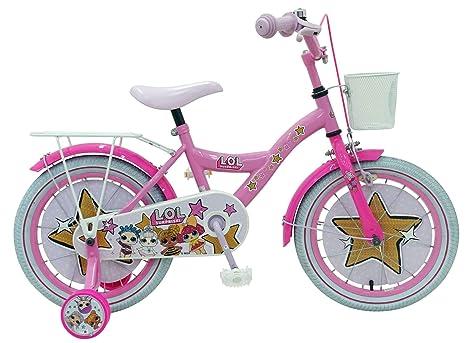 Bici Bicicletta Bambina Lol Surprise 16 Pollici Freno Anteriore Al Manubrio E Posteriore Contropedale Cestino Rosa 85 Assemblata
