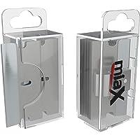 miaX Premium reservemesjes voor keramische kookplaatschrapers, set van 10 - in een praktische dispenser box met - 10…