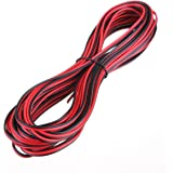 10 METERS 2 CORE BLACK RED 12V 12 VOLT EXTENSION CABLE AMP CAR AUTO VAN BOAT LED STRIP AUDIO SPEAKER WIRE by MkShopUk