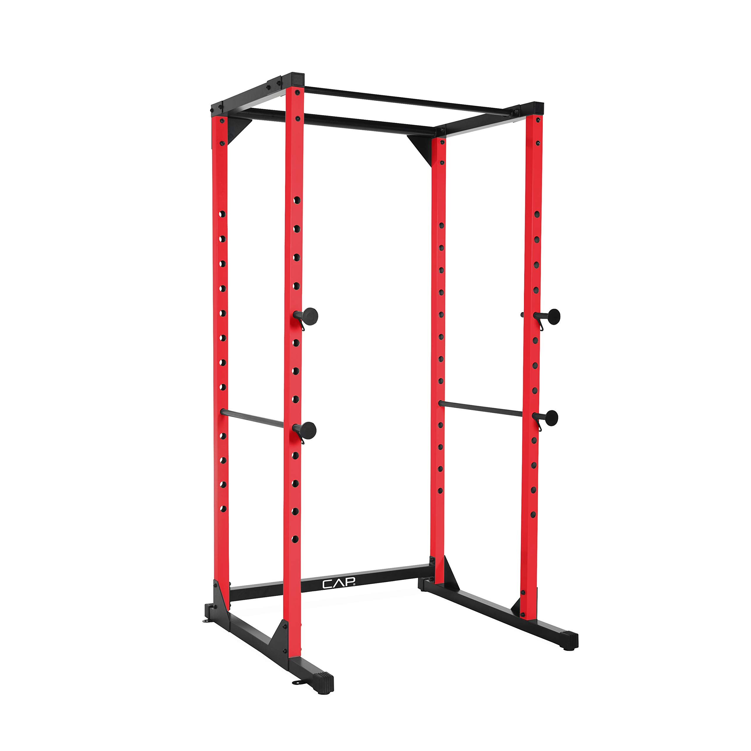 CAP Barbell Full Cage Power Rack, 7-Foot, Red