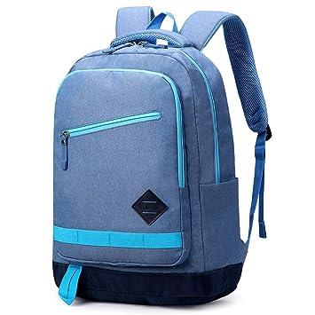 YWJ Mochila De Portátil, Hombre Ordenador Backpack Universidad para Ordenador hasta 15,6 Pulgadas, Mochila De Viaje Escolares Impermeable,Blue: Amazon.es: ...