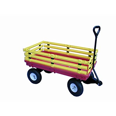 Millside Industries Trekker Wagon with Yellow Removable Poly Rack Set: Toys & Games