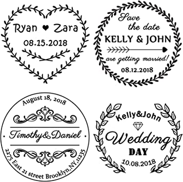 Use in Return Address,Wedding Invitations Save The Dates Custom Stamps/Return Address Stamp-Personalized Wedding Stamp RSVP Cards