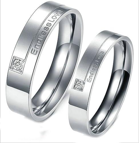 Silber Ehering Paar Edelstahl Verlobungsring Damen Herren