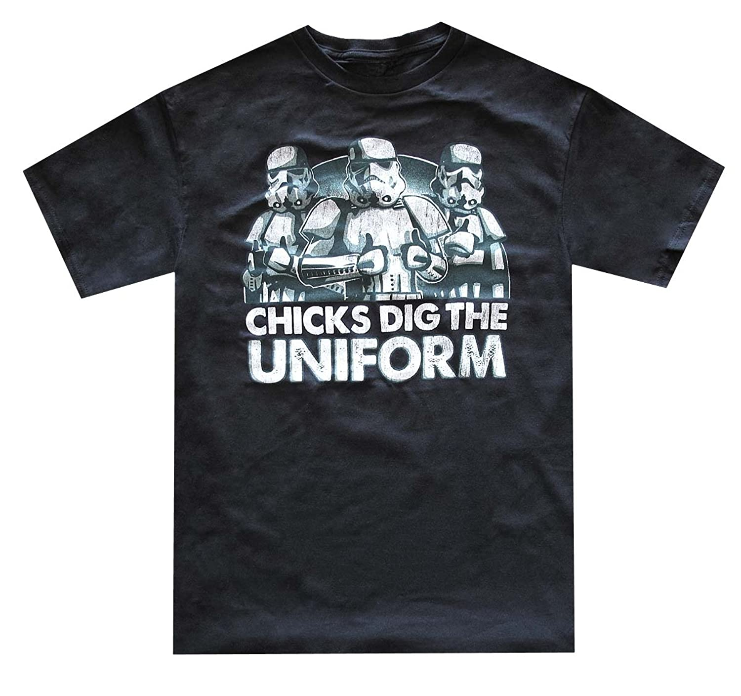 Star Wars Men's Stormtrooper Chicks Dig Uniform T-Shirt (X-Large, Black)