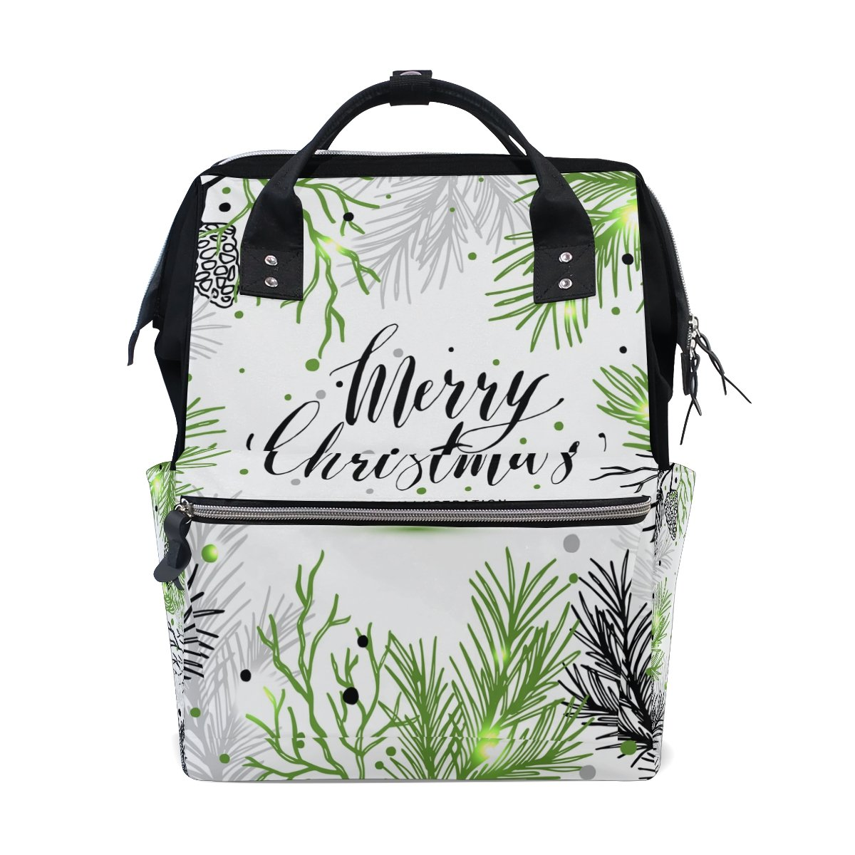 JSTEL ノートパソコン用カレッジバッグ 学生 旅行 メリークリスマス 新年 ツリー スクールバックパック ショルダートートバッグ   B078MXGL53