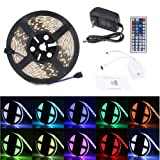 Amazon Price History for:Lampwin RGB LED Strip Light Kit with 16.4FT DC 12V Flexible IP65 Waterproof 300 Units SMD 3528 Color Changing LED Rope Light, Multi-color 44 Key IR Remote Controller, DC 12V 2A Power Supply Adapter