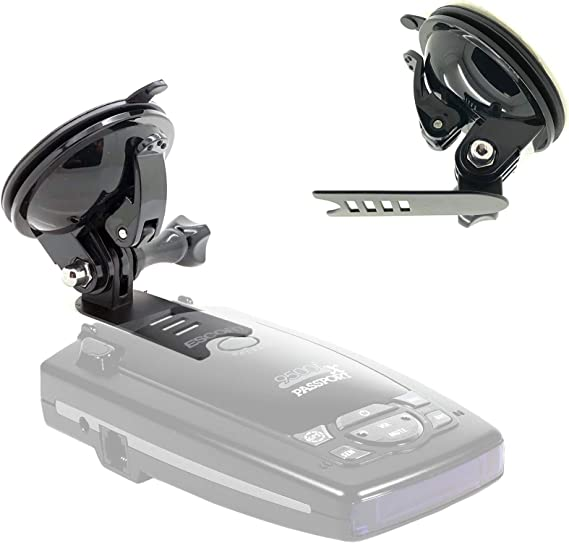 AccessoryBasics Car Rearview Mirror Radar Detector Mount for Escort PASSPORT 9500ix 9500i Passport 8500 X50 x70 x80 SOLO S2 SOLO S3 SOLO RD-5110 SC 55 s75 s75g Beltronics RX65 Red VECTOR 995 955 Radar