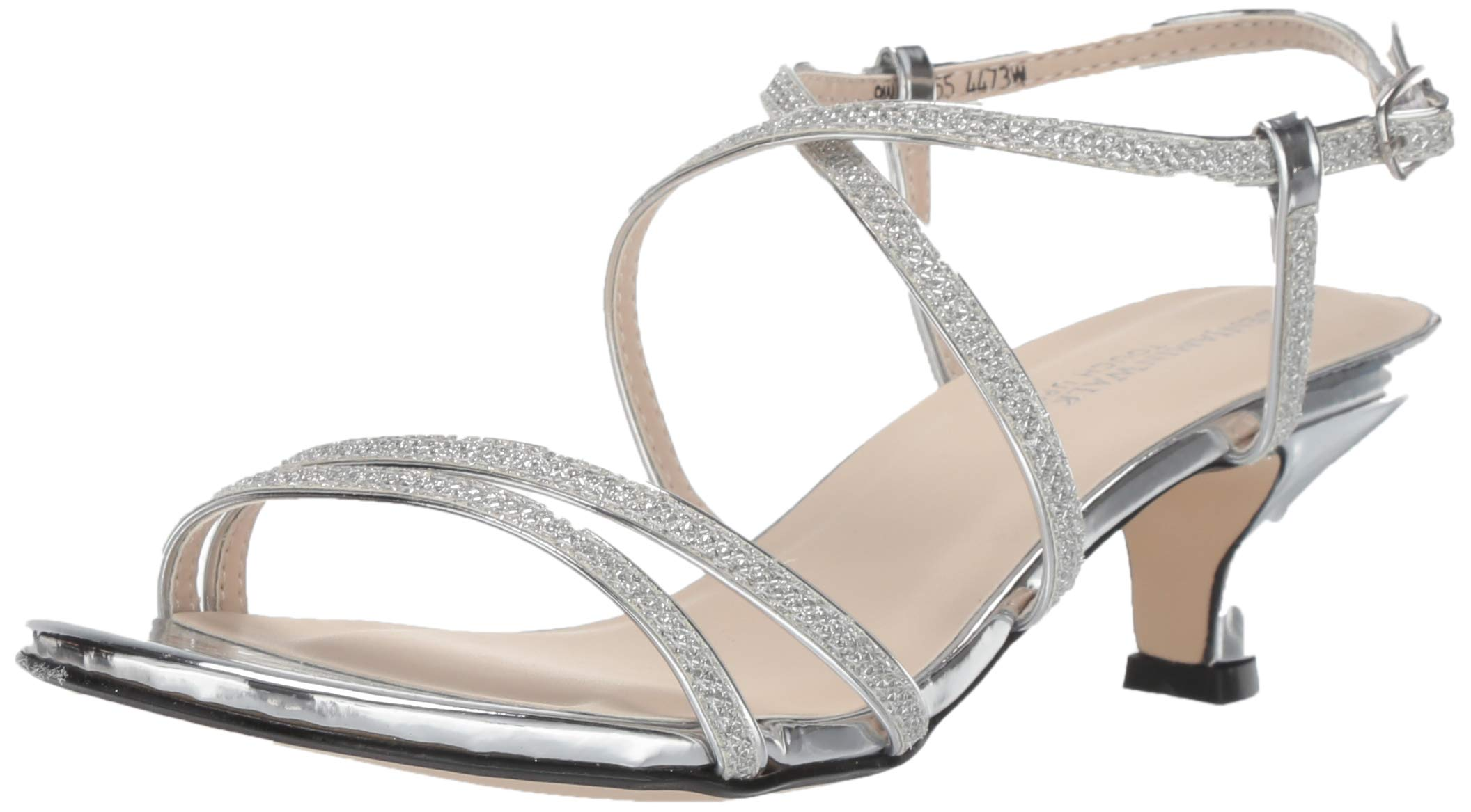 Touch Ups Women's Maisie Heeled Sandal, Silver, 8 W US by Touch Ups