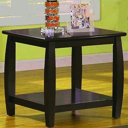 Phenomenal Amazon Com Curved End Table With Shelf Wooden Modern Customarchery Wood Chair Design Ideas Customarcherynet