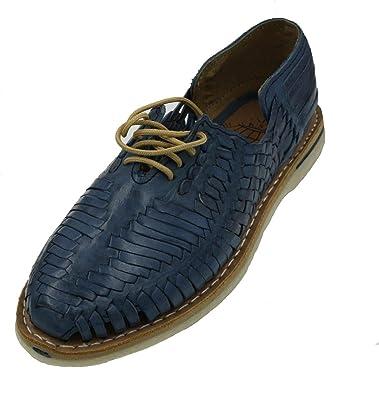 00fe12289c4b9 Amazon.com | Men Genuine Leather Mexican huraches Laces up Sandal ...